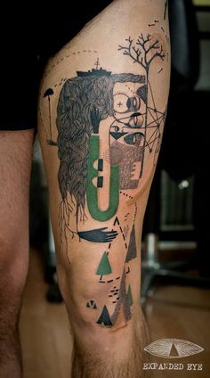 Bei der letzten Tattoo-Serie hatten wir euch den Berliner Peter Aurisch vorgestellt. Jetzt bleiben wir gleich mal beim Thema abstrakte Kunst. Ein weiterer Vertreter dieser Tattoo-Richtung ist nämlich das Londoner Künstler-DuoExpanded Eye, dasman gerade i