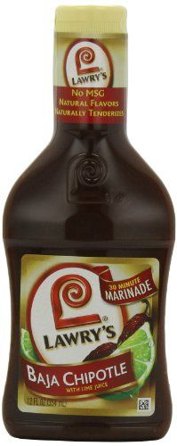 Lawry's Baja Chipotle Marinade with Natural Flavors, 12 oz. (Pack of 6) ** Be sure to check out this awesome product.  This link participates in Amazon Service LLC Associates Program, a program designed to let participant earn advertising fees by advertising and linking to Amazon.com.