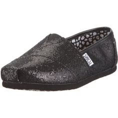 894e0f243835 I m falling in love with just black glitter toms.