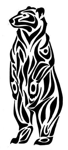 native american drawing drawings bears google tribal bear symbols wood burning animals stencils patterns crafts discover