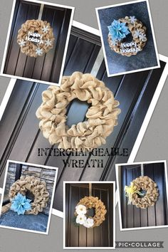A personal favorite from my Etsy shop https://www.etsy.com/ca/listing/549043639/interchangeable-wreath-all-season-wreath