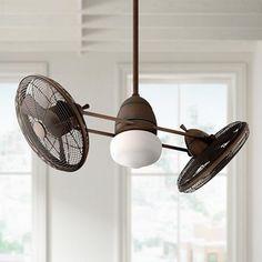 "42"" Gyro Restoration Bronze Finish Ceiling Fan - #97212   Lamps Plus"