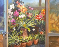 Orchid House, painting by artist Diane Mannion
