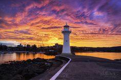 Avustralya/sunset by Travel Adventure Photography Wollongong Australia, Harbor Lights, Travel Photographer, Landscape Photographers, Beach Trip, Nature Photos, Great Photos, The Good Place, Nature Photography