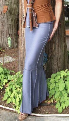 Long Skinny Cotton Jersey Walking Skirt
