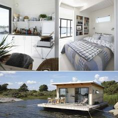Houseboat - so bright, white,  clean!!  Love how open everything is. | photo from Tumblr