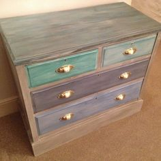 painting a chest of drawers - Google Search Furniture Refinishing, Painted Furniture, Painted Chest, Hand Painted, Chest Of Drawers, Dresser, Google Search, Painting, Color
