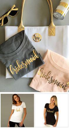 Bridal Party Shirts  Bachelorette Party Shirts Bridesmaid Shirts by ModParty
