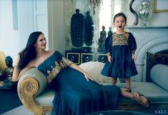 Georgina Chapman and daughter in Vogue