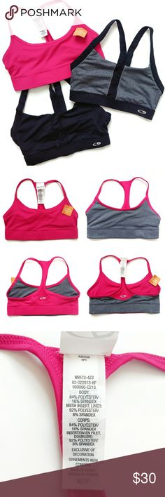 a5664c4841a 3 Champion Sports Bras Size XS Lot of 3 Champion C9 sport bars. The first