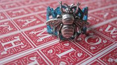 Bee Ring Bee Jewelry Antiqued Silver Bee by enchantedsquirrel, $19.00