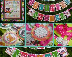 Owl Birthday Party Decorations Package - The Neely