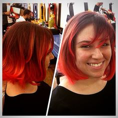 Red by Wal Silva #circushair #circuspamplona #hair #color #red #fashion #style