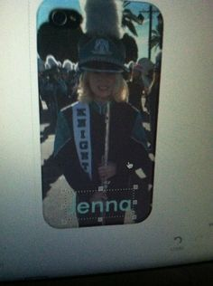 What my mom wanted to get me for my phone case. Me in marching band!!! I told her I liked my other one more.