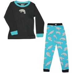 Kids Manatee Print Pyjamas