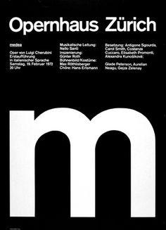 Ruedi Rüegg — Medea M, poster for Opernhaus (1972) in — Posters
