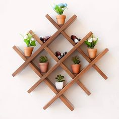 There are over 16000 woodworking plans that comes with step-by-step instructions and detailed photos and videos. Diy Wall Decor, Diy Home Decor, Room Decor, House Plants Decor, Plant Decor, Plant Shelves, Wood Shelves, Small Space Interior Design, Diy Plant Stand