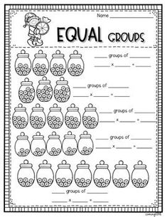 Repeated addition and multiplication for equal groups