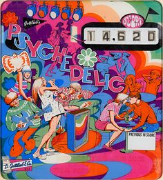 made in the sixties | psychedelicway:   Gottlieb's Psychedelic Pinball,...