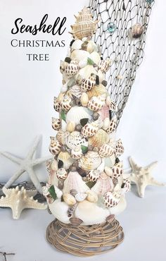 How to make a Seashell Christmas Tree for Christmas in July. #christmas #seashells #seashellcraft #seashellchristmastree #summercraft #christmastree #christmasinjuly Summer Crafts, Fun Crafts, Crafts For Kids, Amazing Crafts, Decor Crafts, Christmas Tree Crafts, Christmas In July, Holiday, Good Tutorials