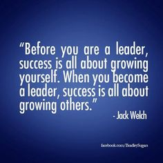 Jack Welch. True leadership. Mentoring.