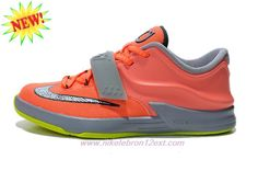 Where To Get 669944-800 Nike KD VII (7) Kids Shoes Bright Mango f5199135d