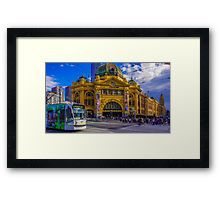 The Cyclist at Flinders Street Station Framed Print