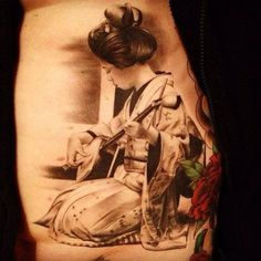 geisha tattoo - 50  Beautiful Geisha Tattoos  <3 !