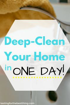 These awesome tips allow you to deep clean your whole home in no time. These are shortcuts that cut time but not results. I swear, your home will sparkle! - www.testingforthebestthing.com/8-amazing-cleaning-tips-to-deep-clean-your-home-in-one-day/