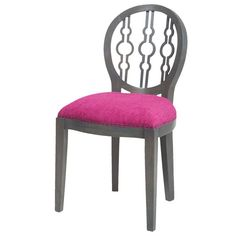 Candelabra Home Dimple Chair - Antique Smoke & Cerise Fabric