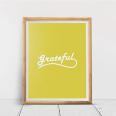 Grateful, Printable Wall Art Print, Inspirational, Typography, Home Decor, Poster, Quote Print, Minimalist Quote, Digital Download Quote Prints, Wall Art Prints, Printing Services, Online Printing, Minimalist Quotes, International Paper Sizes, Printable Wall Art, Grateful, Typography