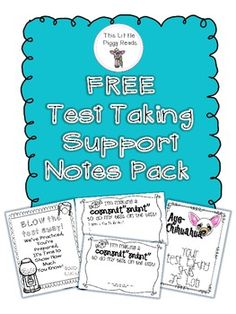 Thank you for downloading my product!  I hope this will help alleviate your students stress (and yours too) about test taking this season.  I will be doing a blog post about how I use this product in my classroom.  If you would like to see pics and directions, hop on over to my blog and check it out.