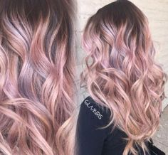 Ombre is perfect for rose gold hairstyles!