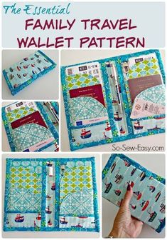 and Passport Wallet Pattern Essential Family and Travel Passport Wallet. This one contains space for a family of 2 or 4 - much more useful.Essential Family and Travel Passport Wallet. This one contains space for a family of 2 or 4 - much more useful. Wallet Sewing Pattern, Coin Purse Pattern, Sewing Patterns, Knitting Patterns, Sewing Projects For Beginners, Sewing Tutorials, Sewing Hacks, Sewing Crafts, Sewing Tips