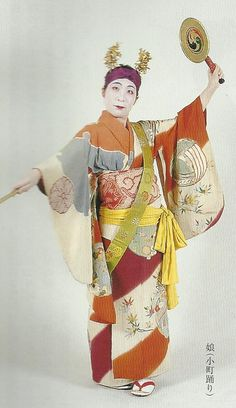 """Scan F3.  Scan from book """"The History of Women's Costume in Japan."""" Scanned by Lumikettu of Flickr. Exacting recreation of Japanese costume many centuries ago…"""