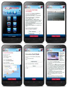 Mobile site ui design Nissakia Surf Club Stand Up Paddle, Windsurfing, Banner Design, Restaurant Bar, Ui Design, Banners, Club, Kitesurfing, Banner
