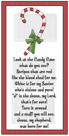 Legend of the Candy Cane...♥ Awwh, I remember this in Mrs. Lu's religion class - middle school:)