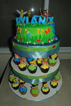 Peter Pan cake and cupcakes by pink_apron, via Flickr