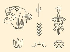 dribbblepopular: Southwest Illustrations Original: http://ift.tt/R0HkjL