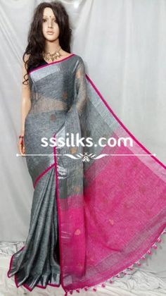 Our weaver specially made wholeheartedly for the women by using materials such as organic linen, natural zari, natural dyes. Pure Silk Sarees, Handloom Saree, Dyes, Sari, Organic, Indian, Pure Products, Formal Dresses, Natural