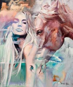 A Girl and Her Horse -Dimitra Milan