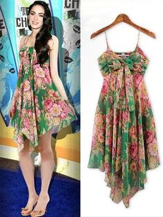 Graceful Floral Classic Fit Pleated Dress Casual Dresses
