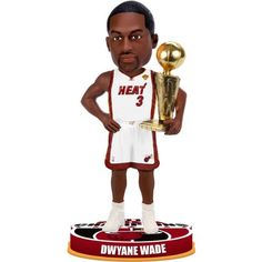 "Dwyane Wade #3 Miami Heat 2012 NBA Finals Champions 8"" Bobblehead by Forever Collectibles. $34.99. Celebrate your Miami Heat winning the NBA Championship with this Dwyane Wade #3 Miami Heat 2012 NBA Finals Champions 8"" Bobblehead. This Miami Heat bobblehead looks just like your favorite player and features the official NBA Championship logo."