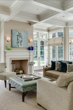 This color scheme creates a warm and inviting living room