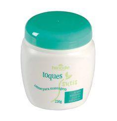 Hidrata e estimula a microcirculação periférica, protege e tonifica a pele, facilitando a drenagem de toxinas. Toque Sutis – Creme para Massagem deixa a pele com toque suave.