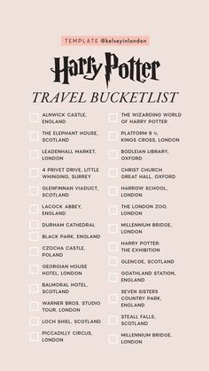 travel destinations scotland story templates harry-potter kelsey henrichs kelseyinlondon harry potter bucket list harry potter would you rather harry potter this or that Travel List, Travel Goals, Travel Bucket Lists, Europe Bucket List, Travel Europe, Bucket List London, College Bucket List, Travel Guide, Adventure Bucket List