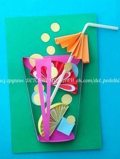 Preschool Crafts, Kids Crafts, Diy And Crafts, Arts And Crafts, Art N Craft, Diy Art, Summer Crafts For Kids, Art For Kids, Diy Paper