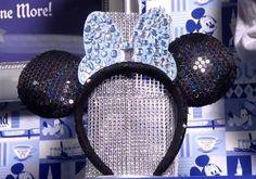 Disneyland 60 sparkly ears Mickey Mouse Ears Hat, Mickey Head, Disneyland Vacation, Disneyland 60th, 60th Anniversary, Diamond Anniversary, Disney Love, Disney Stuff, Ear Hats