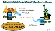 ไม่ง้อโรมมิ่ง รับสายจากไทยในต่างประเทศราคาถูกเริ่มต้น 2.50 บาท ด้วย CAT international call forward