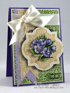 Inspired to Stamp: Circle of Love. Designed by Kathy Jones  JustRite Stamps